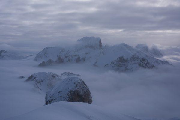 Alvierkette im Nebelmeer