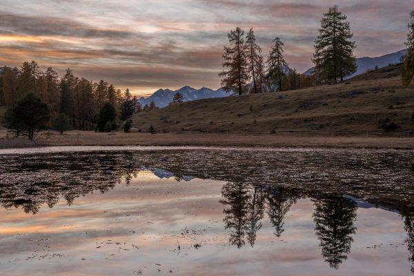 Sonnenuntergang im Engadin