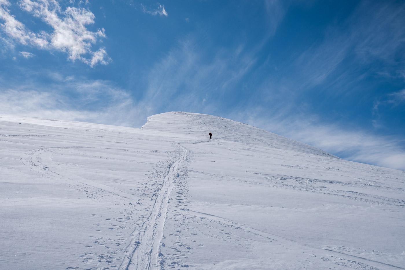 Noch 200 Höhenmeter zum Gipfel