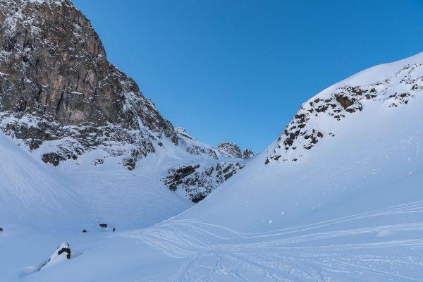Aufstieg unterhalb der Gianda Polaschin