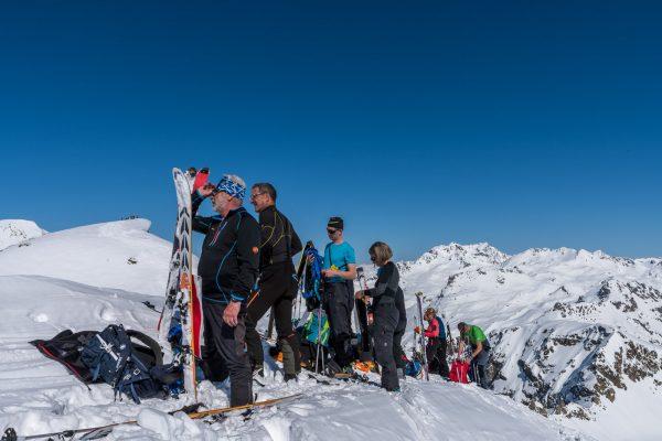 Umrüsten auf dem Gipfel