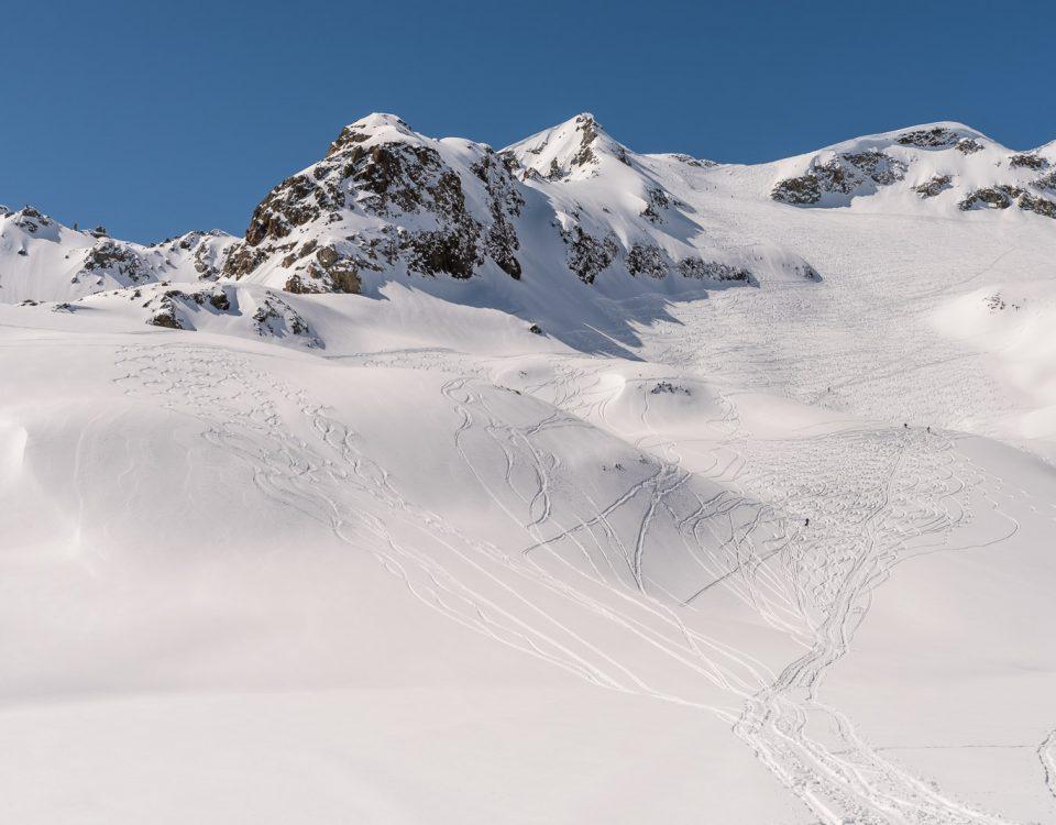 Piz Lagrev Skiabfahrt