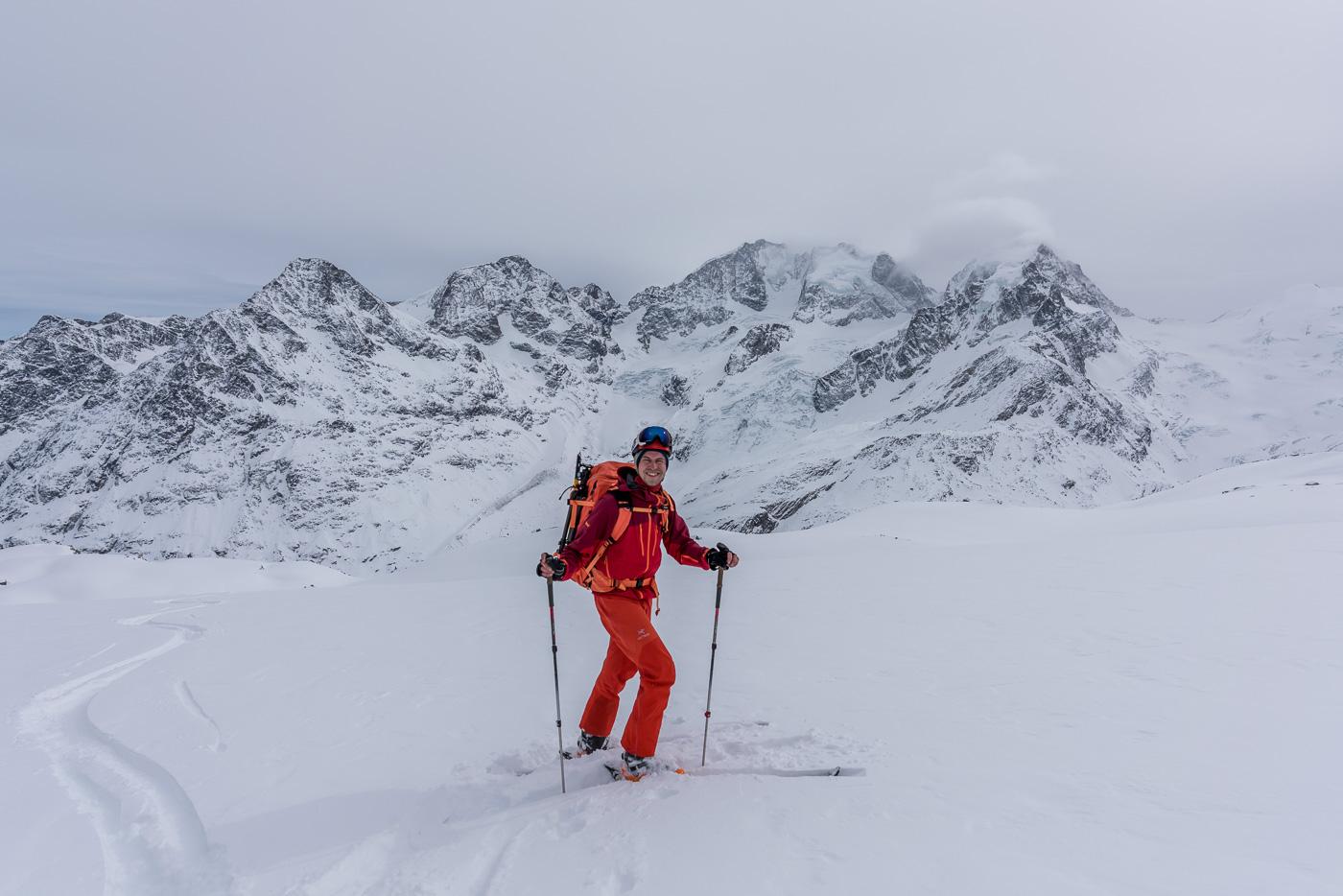 Skitour mit Vollpackung