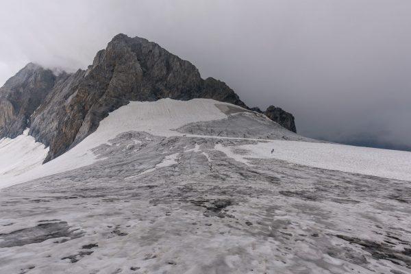 Zeltplatz auf dem Eis