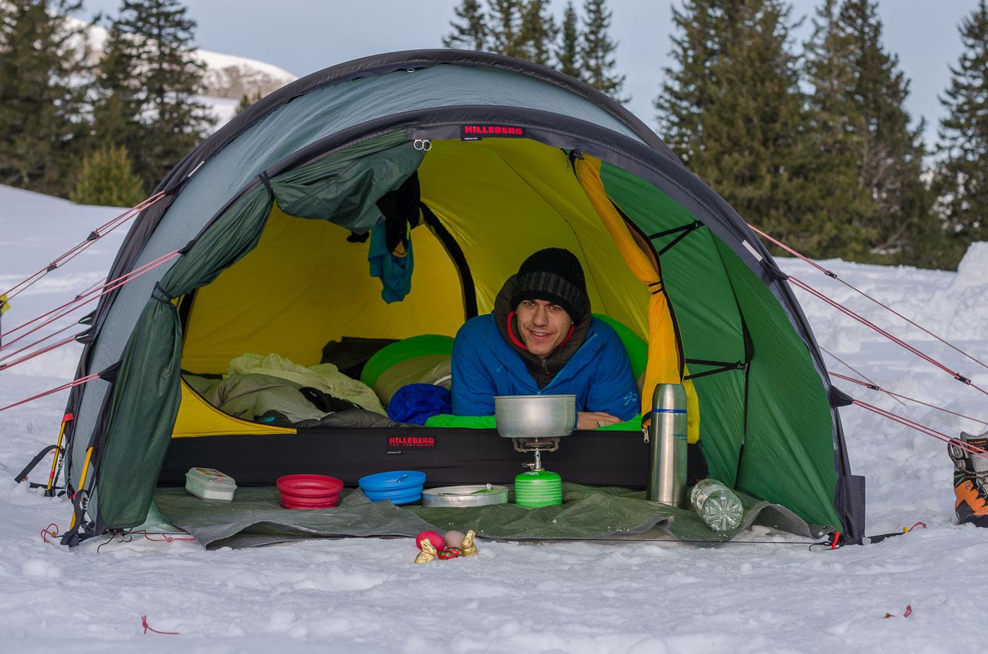 Wintercamping Küche