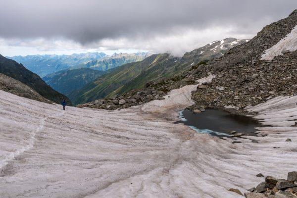 Aufstieg zur Fuorcla Sura da Lavaz