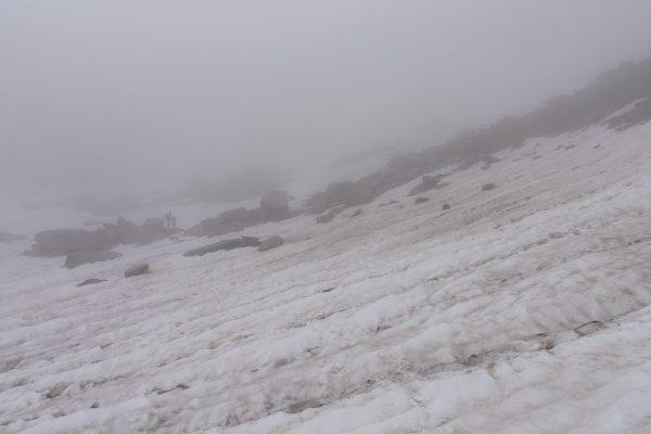 Durch Schnee und Nebel