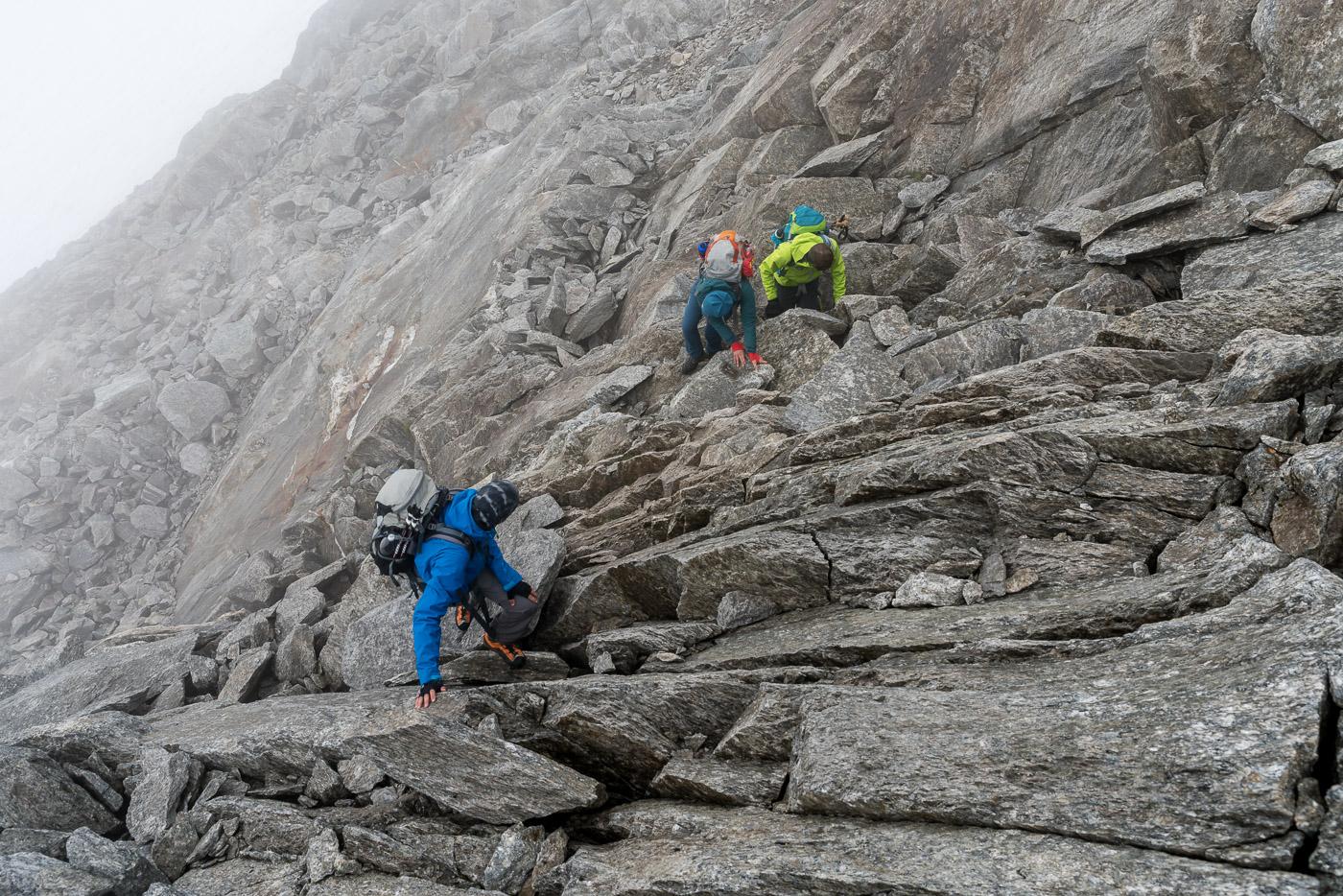Kurze kletter Passage