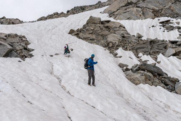 Schneefeldabfahrt