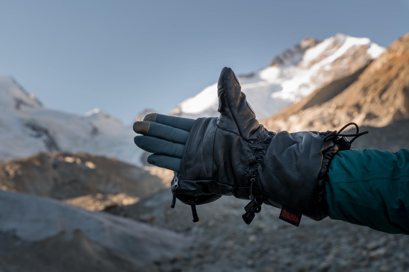 Shell-Full Leather Handschuhen samt Merino Liner