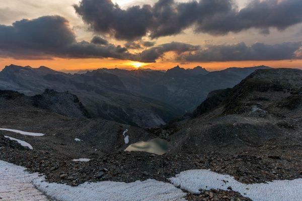Sonnenuntergang von der Fanelllücke