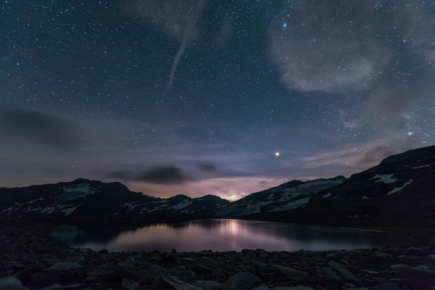Sternenhimmel über dem Fanellsee