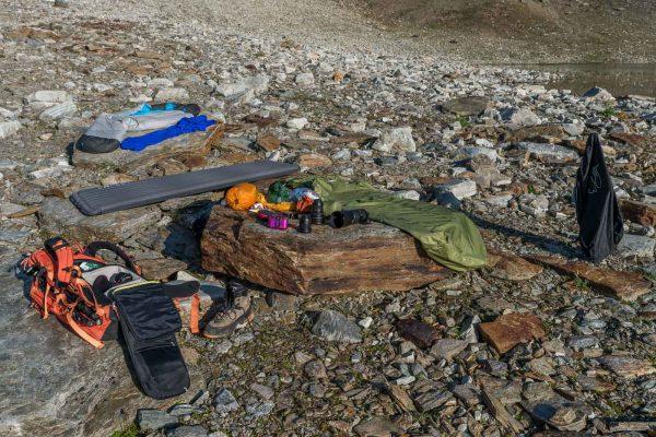 Mein Schlafplatz und Materiallager