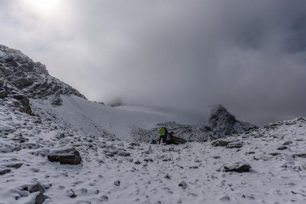 Aufstieg zum Vadrettin dal Chapütschin