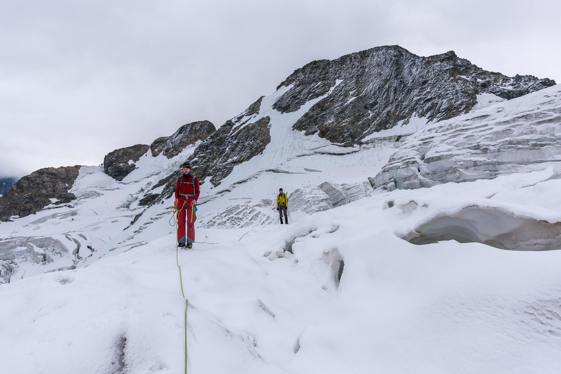 Wegsuche durch das Gletscherlabyrinth