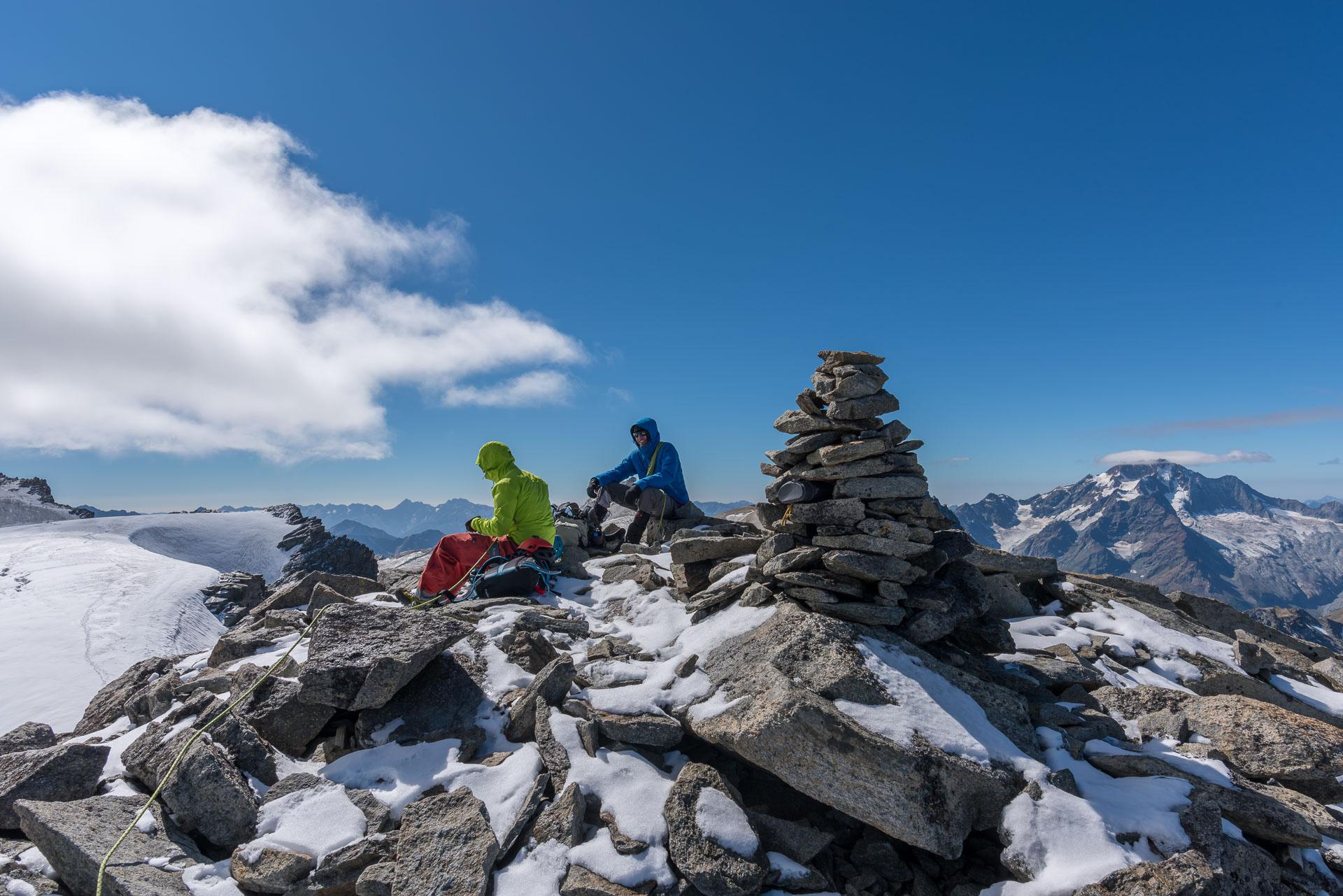 Mittagspause auf dem Gipfel