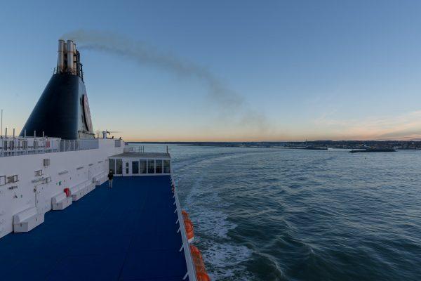 Auslauf aus dem Hafen von Hirtshals DK