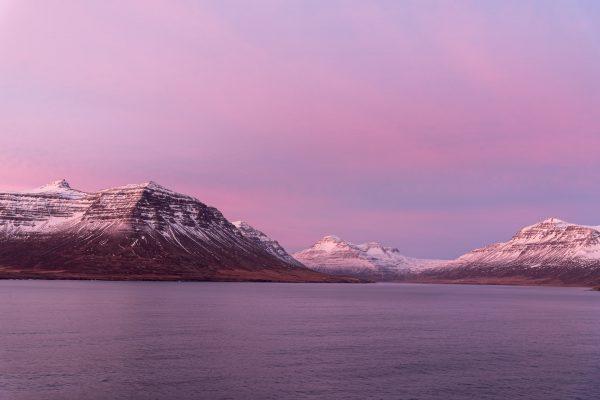 Einfahrt in den Fjord von Seyðisfjörður