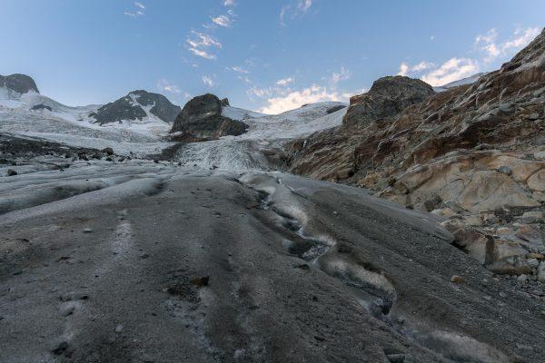 Start am Gletscher Vadret da Roseg
