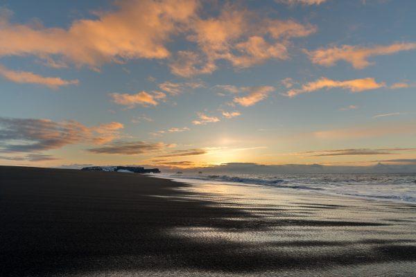 Sonnenaufgang auf dem Weg zum Dyrhólaey