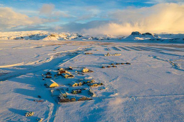 Mið-Hvoll unterhalb des Mýrdalsjökull