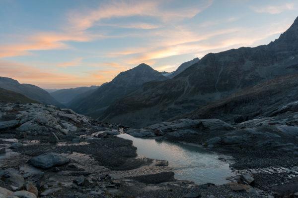 Sonnenaufgang über dem Piz Tschierva