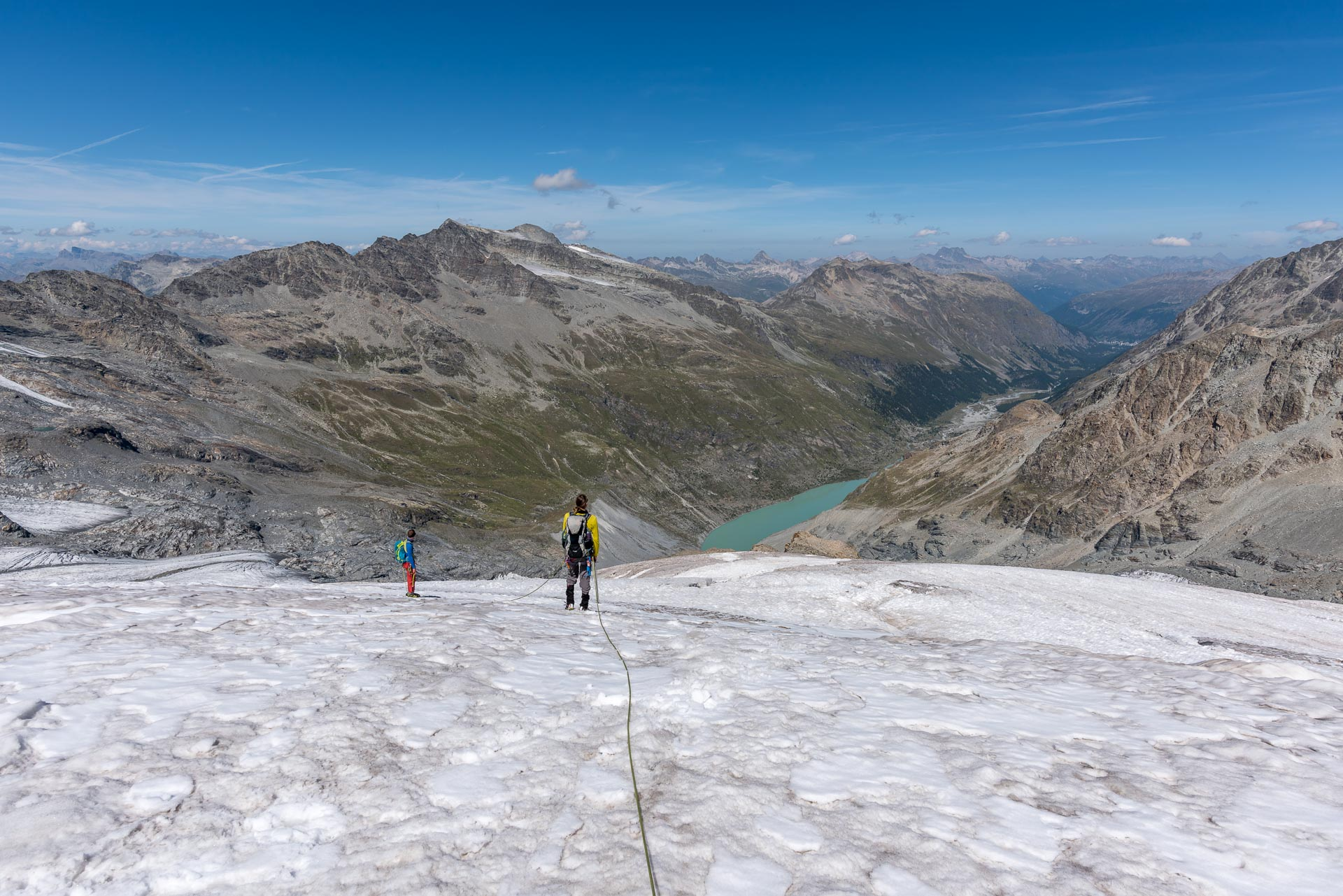 Den ganzen Gletscher haben wir für uns alleine