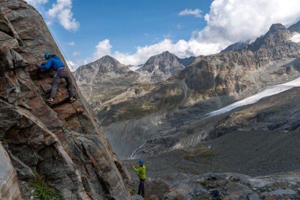 Klettern auf der 3er Route