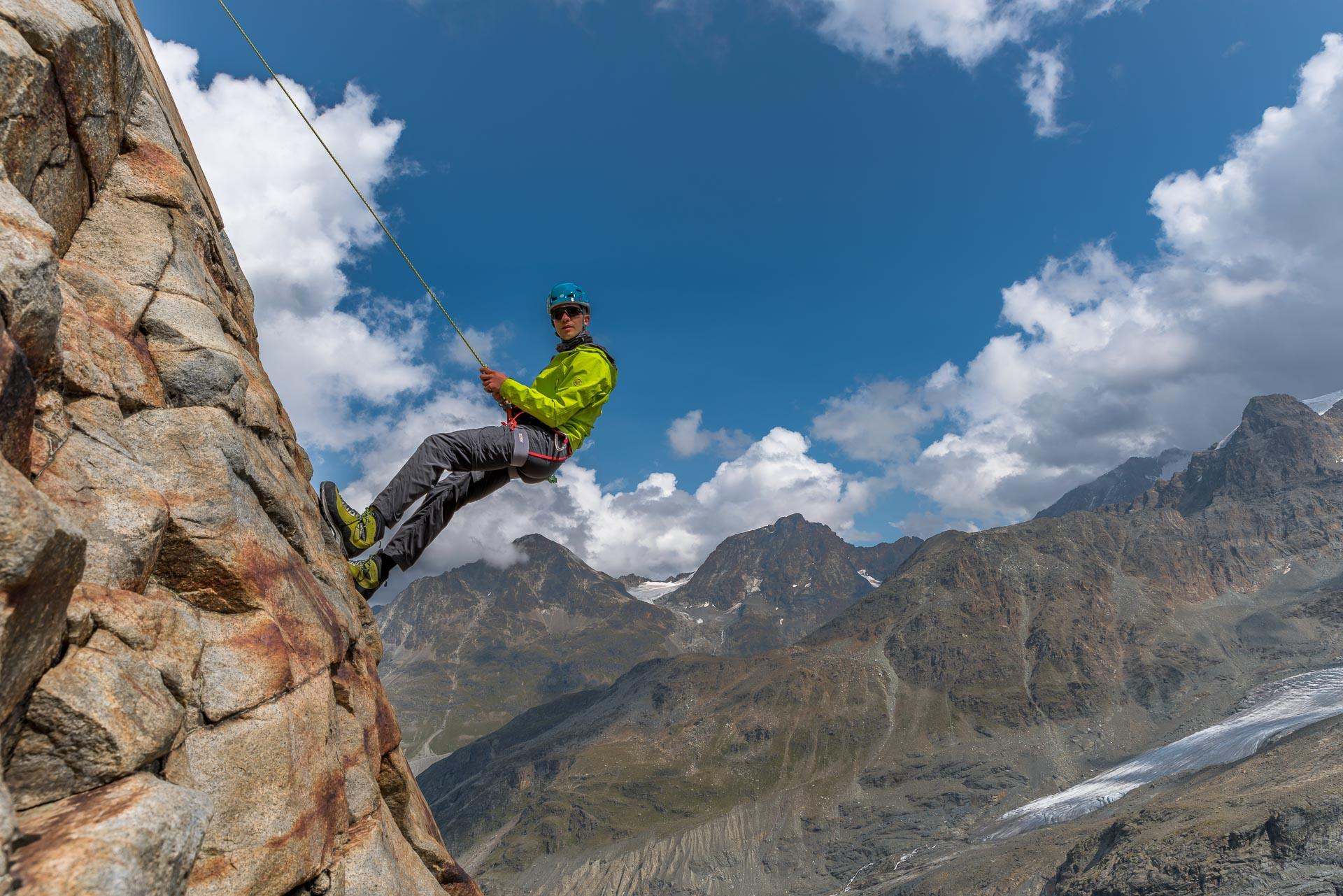 Klettern bei schönstem Wetter