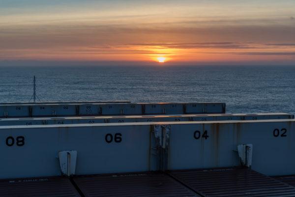 Sonnenuntergang auf der Atlatic Sky
