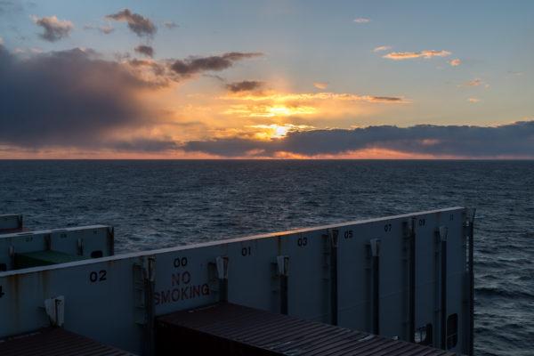 Sonnenuntergang vor der Küste Kanadas