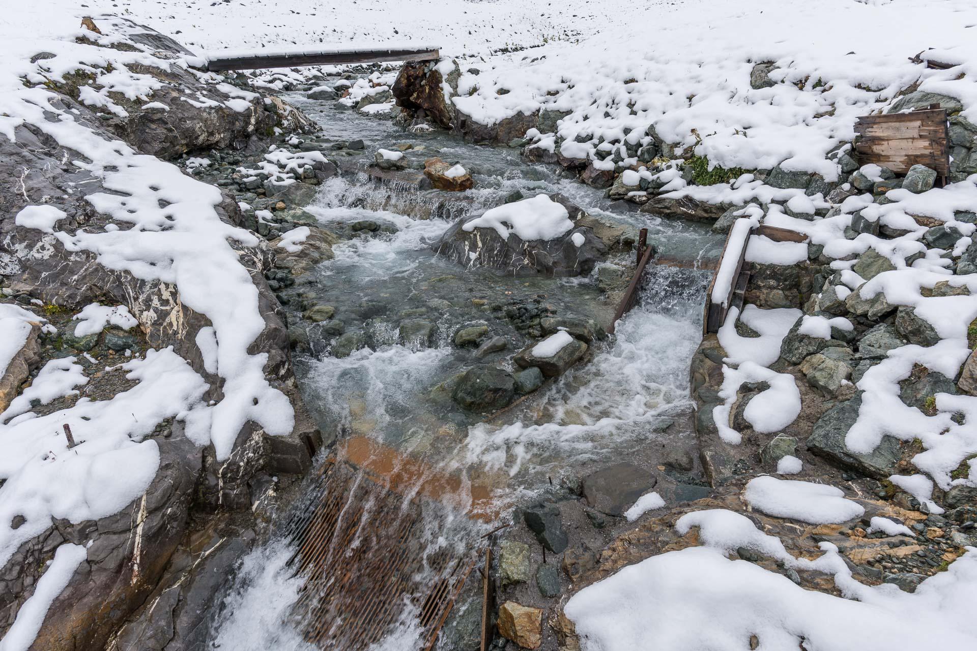Wasserfassung für die Turbine