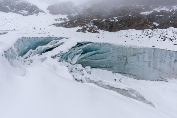 Eingestürzte Gletscherhöhle