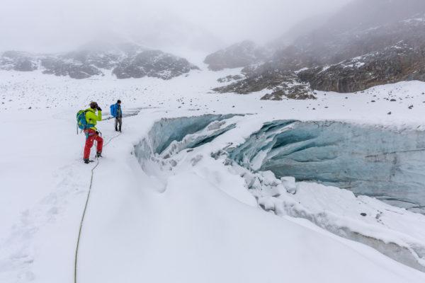 Blick ins innere des Gletscchers