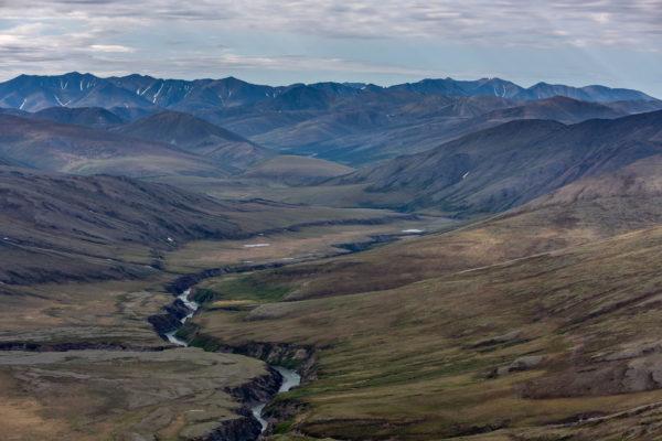 Der Firth River ist eine tiefe Schlucht. Dies ist einzigartig in der nördlichen Brooks Range.