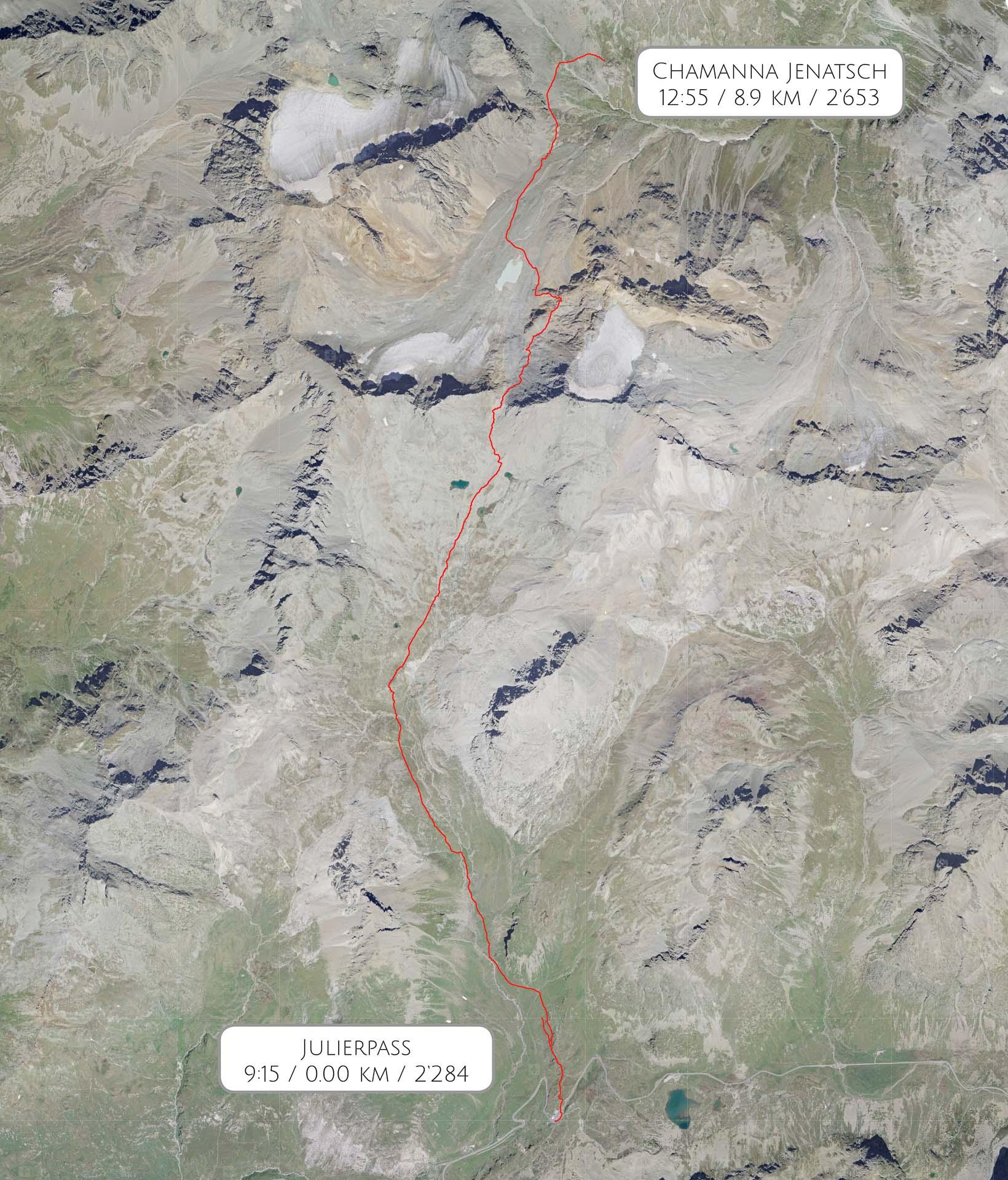 Route Julierpass – Chamanna Jenatsch