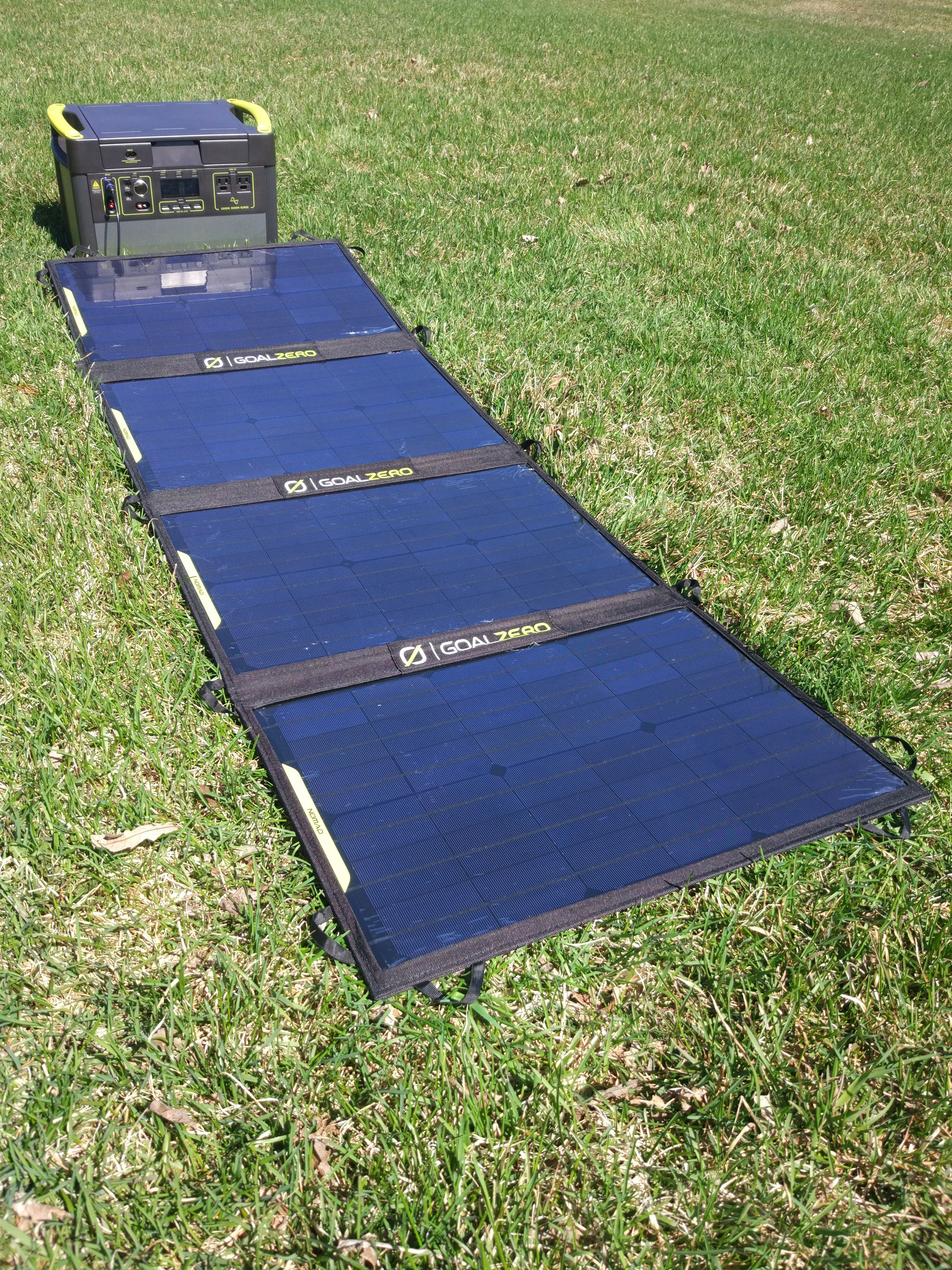 Solar Panel und Akku