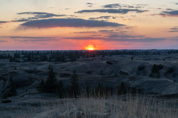 Sonnenuntergang in den Sanddünen