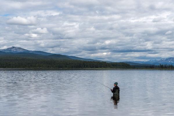 Johann am Fischen