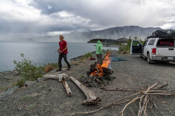 Camp am Kluane Lake