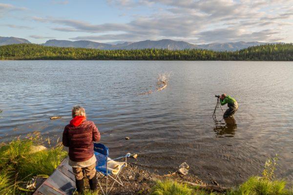Fischerstiefel helfen auch beim Fotografiern