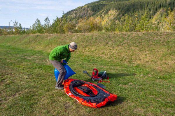 Vorbereitung für die Yukon Fahrt