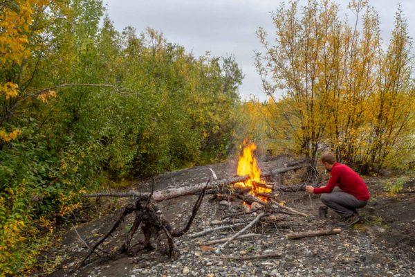 Das obligatorische Lagerfeuer