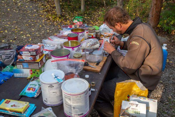 Vorbereitung für die Tage im Denali Nationalpark