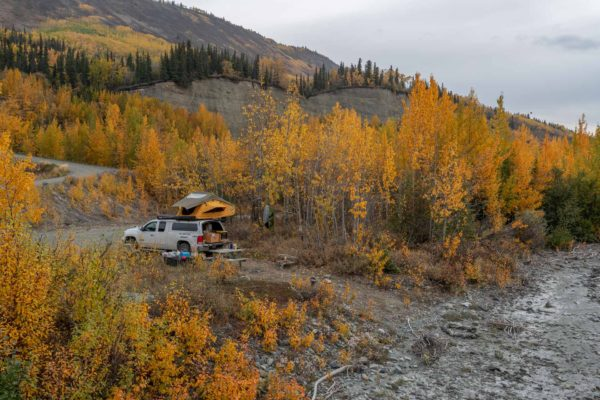 Unser Camp am Matanuska River