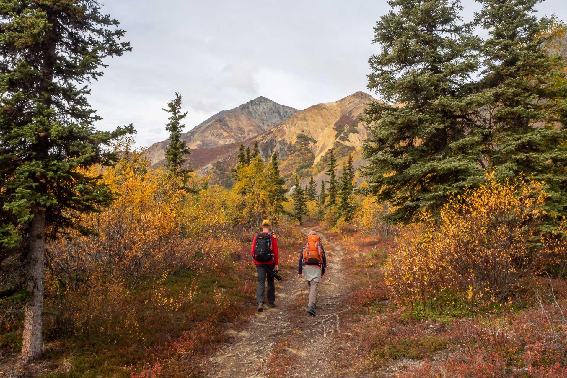Wanderung um die Sheep Mountain Lodge