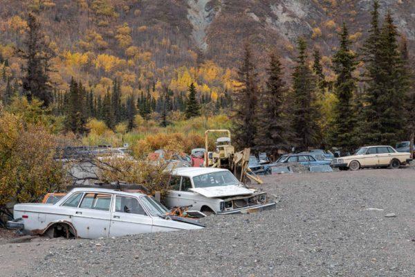 Autofriedhof, nicht selten in Alaska
