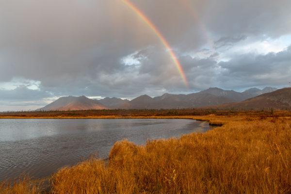 Regenbogen über dem Matanuska Valley