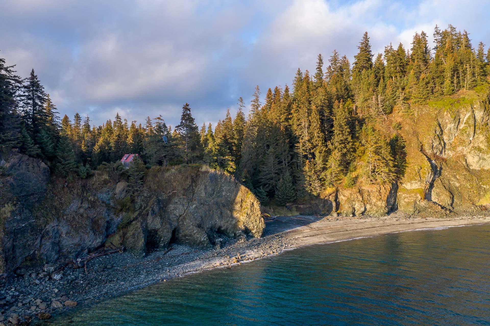 Cabin oberhalb des Strandes