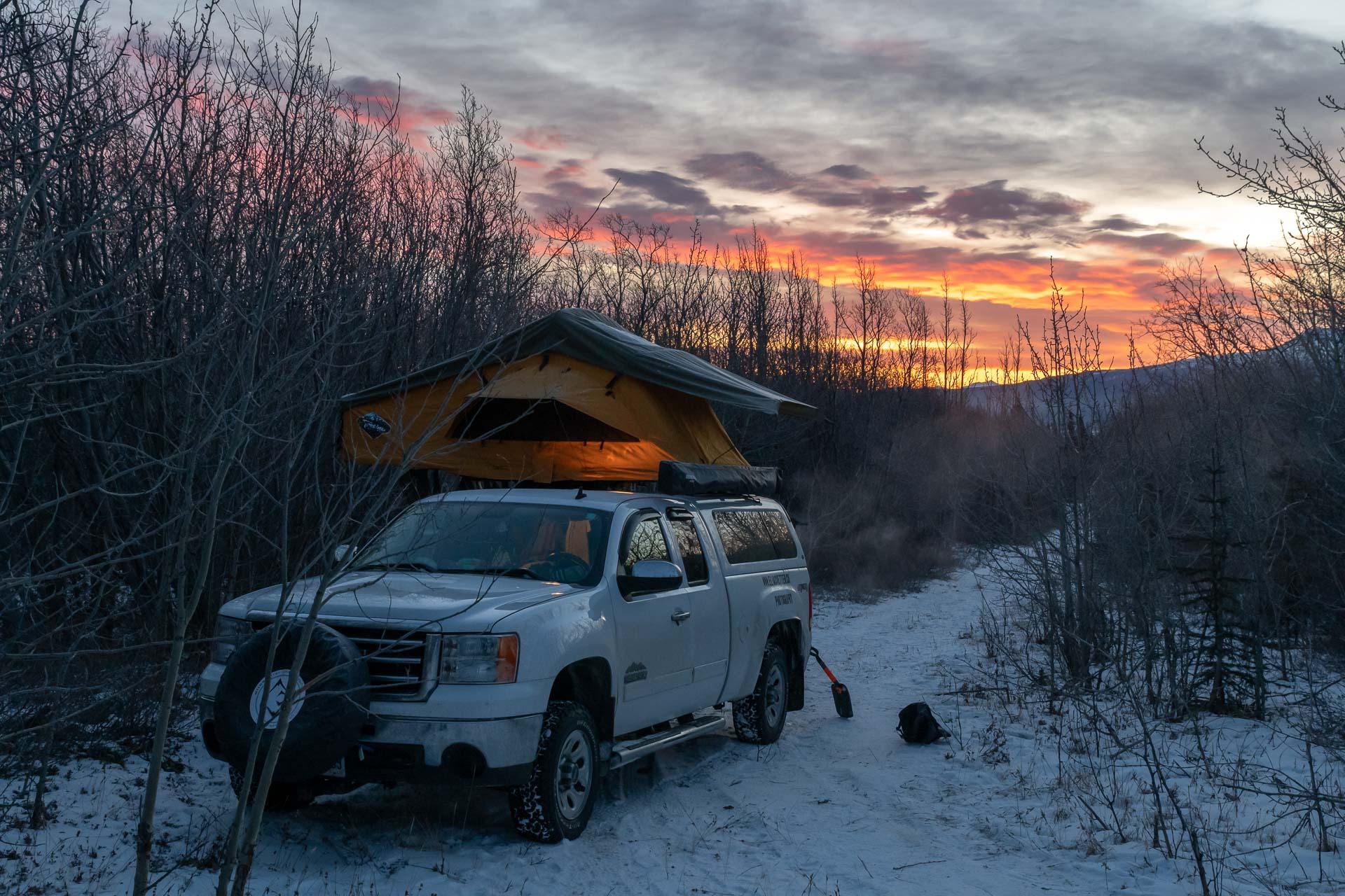 Camp am Alaska Highway